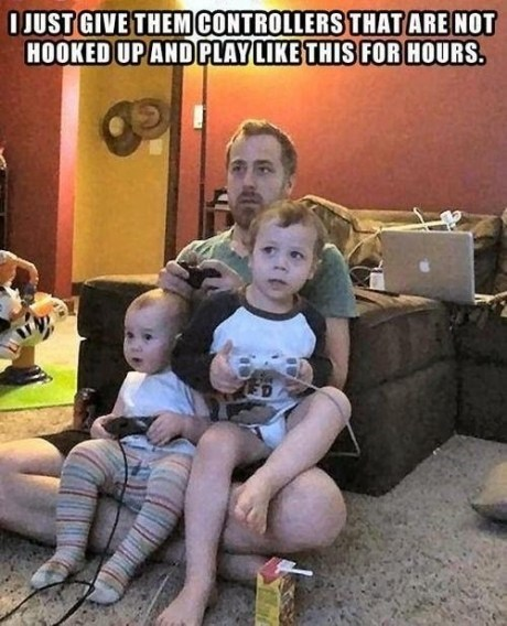 pretend,dad,video games,g rated,Parenting FAILS