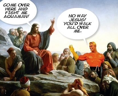 jesus,fight,aquaman