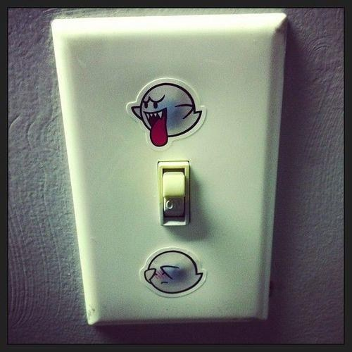 light switch boo nerdgasm video games Super Mario bros g rated win - 6983796992