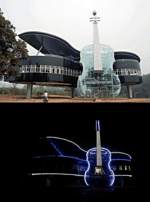 piano neon house architecture violin - 6983814656