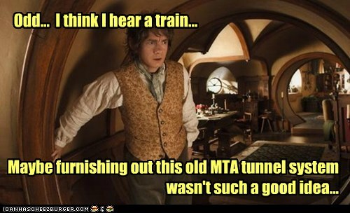 Martin Freeman Bilbo Baggins The Hobbit Subway furnishing tunnels train - 6983973376