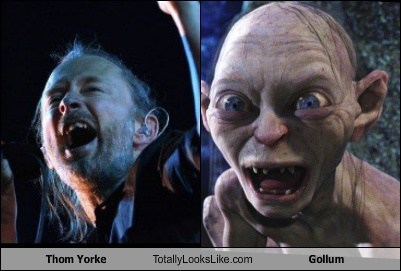 Thom Yorke,Lord of the Rings,gollum,TLL,The Hobbit,radiohead