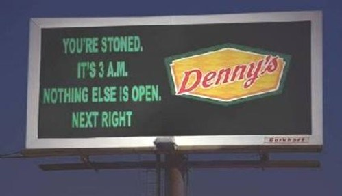 munchies,stoned,compelling point,dennys