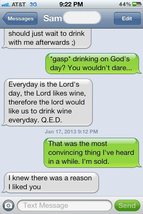 i like you,iPhones,makes sense,god's day,wine,g rated,AutocoWrecks