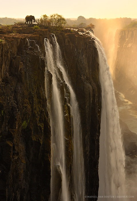 africa cliff landscape waterfall - 6984069120