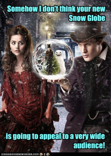 snow globe,clara oswin oswald,the doctor,jenna-louise coleman,Matt Smith,doctor who,audience