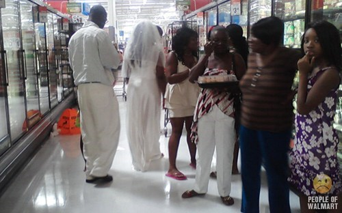 wedding party,Walmart,freezer section