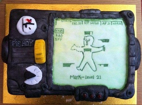 cake fallout nerdgasm dessert video games - 6984313344
