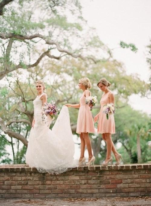 heels bridesmaids balance wall precarious - 6984425216
