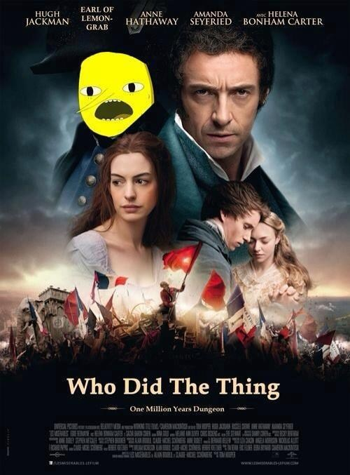 lemongrab,crossover,the earl of lemongrab,adventure time,Les Misérables