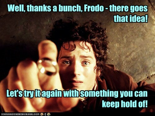 Lord of the Rings thanks Frodo Baggins the one ring elijah wood lost dropped - 6984574720