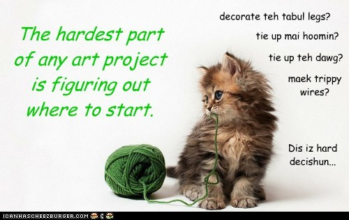 art,kitten,cute,yarn,kitty,funny
