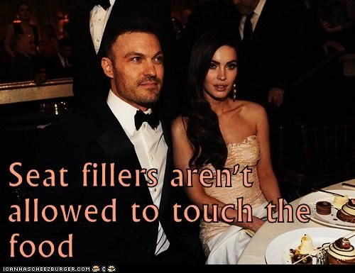 seat fillers,megan fox,golden globes,brian austin green,food,not allowed