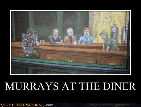 night hawks,painting,diner,bill murry