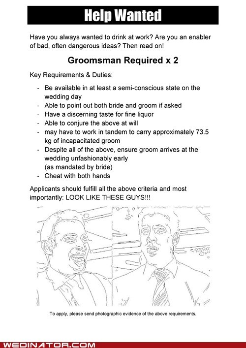 Ad Groomsmen cute help wanted - 6985457408