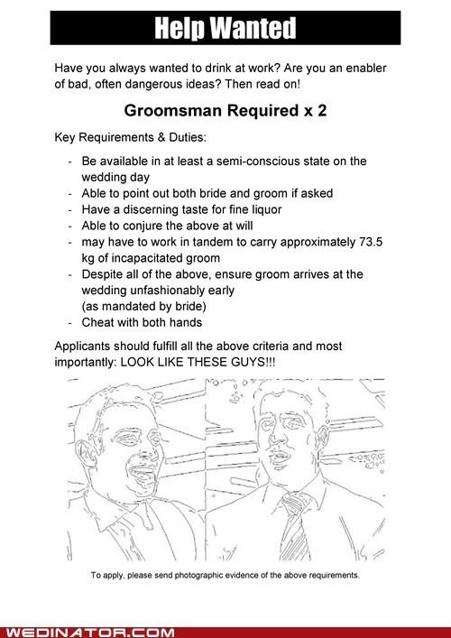 Ad Groomsmen cute help wanted - 6985457408