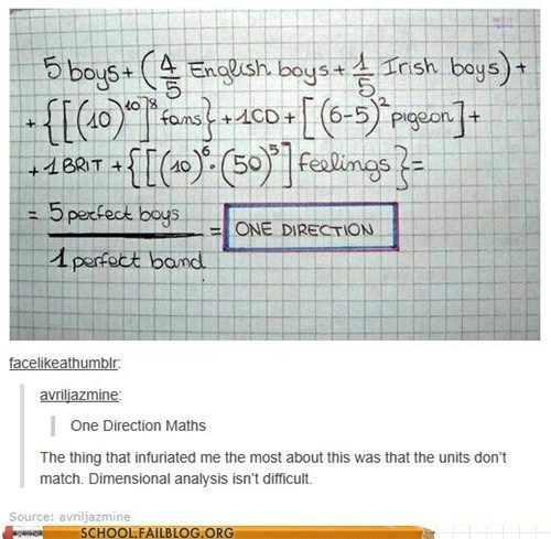one direction idiots math fangirl - 6985540352