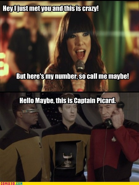 picard,carly rae jepsen,phone,call me maybe