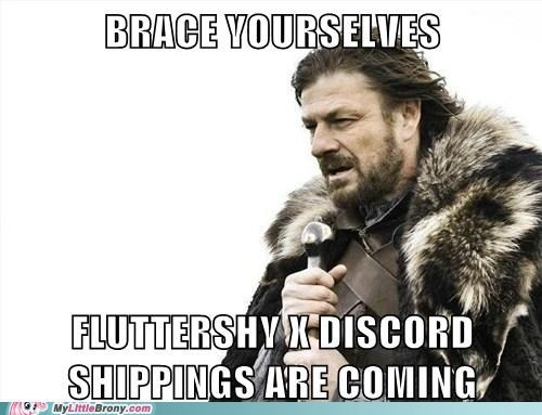 shipping,discord,brace yourselves,Memes,fluttershy