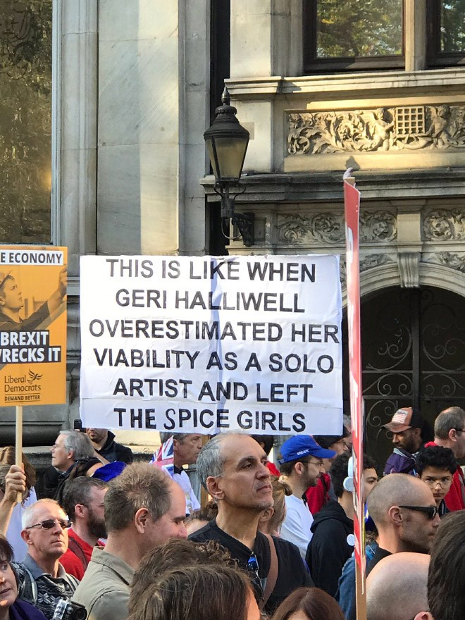 brexit signs London march funny signs - 6985733