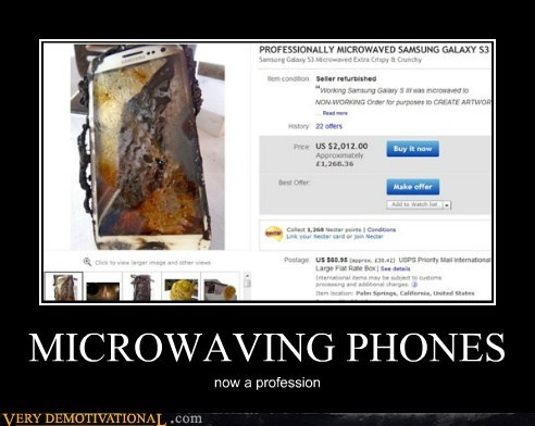 MICROWAVING PHONES now a profession