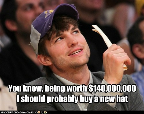 buy,new,ashton kutcher,torn,hat,rich