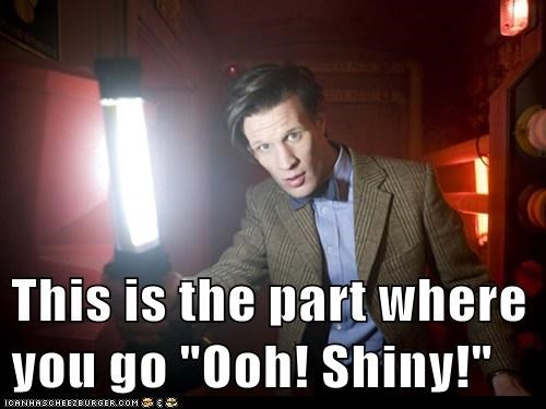 shiny,the doctor,Matt Smith,doctor who,light