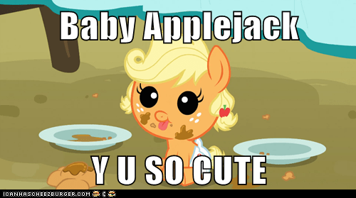 Baby Applejack  Y U SO CUTE