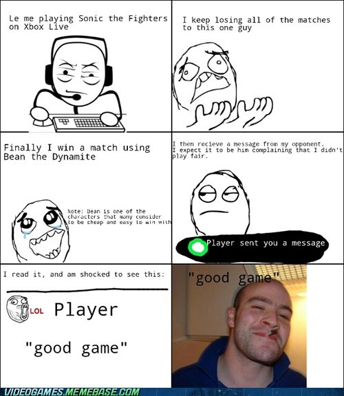 sonic fighters,bean,Good Guy Greg,Rage Comics
