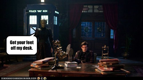 madam vastra,desk,feet,the doctor,tardis,Matt Smith,doctor who