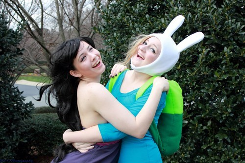 cosplay,fionna the human girl,cartoons,marceline the vampire queen,adventure time