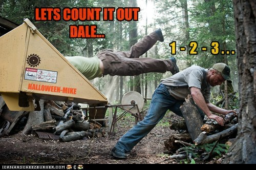 LETS COUNT IT OUT DALE... 1 - 2 - 3 . . . HALLOWEEN-MIKE