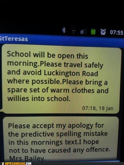 school predictive text travel safely - 6987586816