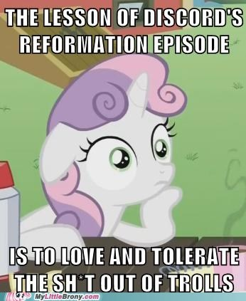 love and tolerate,meta,Memes,suddenly sweetie belle