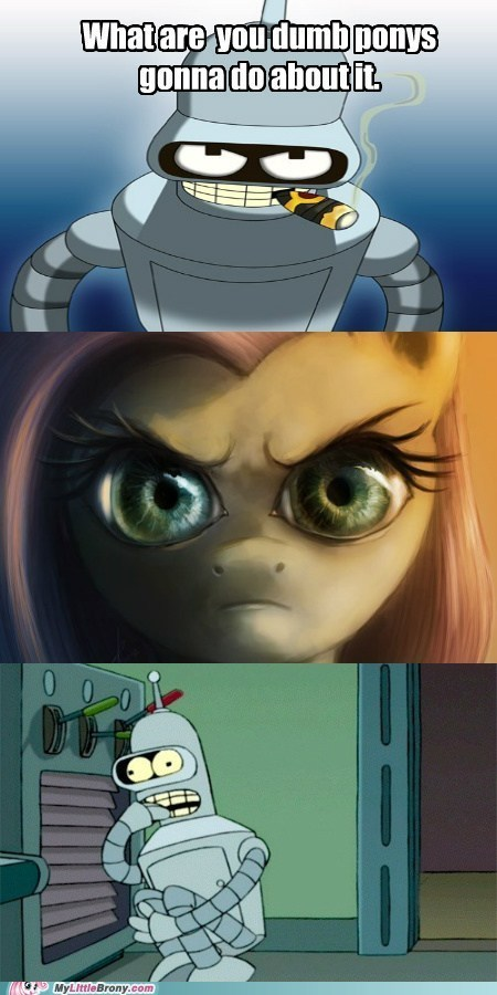 bender fluttershy the stare - 6988027136
