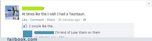 lukewarm,star wars,luke skywalker,tauntaun,Han Solo,failbook,g rated