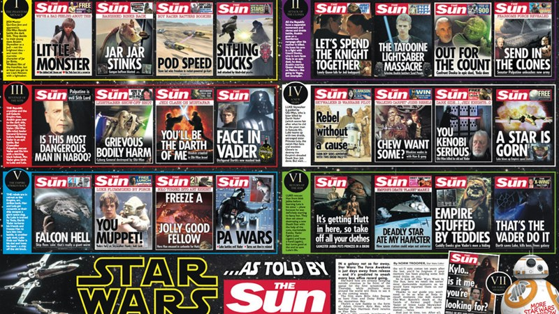 star wars saga as the sun covers
