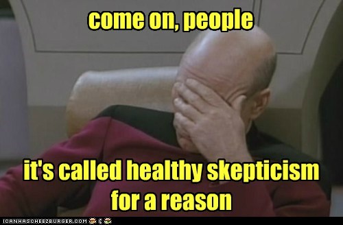 Captain Picard facepalm snopes come on skepticism Star Trek patrick stewart - 6989636096
