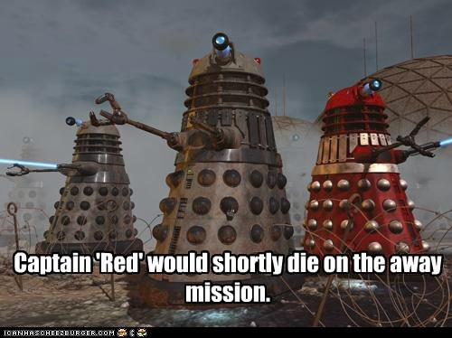 federation,daleks,away mission,doctor who,redshirts