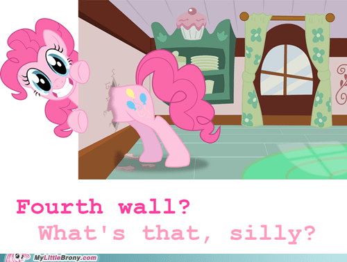 fourth wall,pinkie pie,silly
