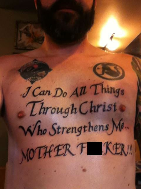 christ chest tattoos Ugliest Tattoos