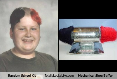 Random School Kid Totally Looks Like Mechanical Shoe Buffer