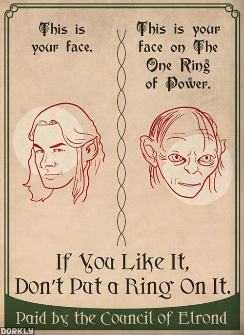 dorkly Lord of the Rings gollum one ring of power - 6991238656
