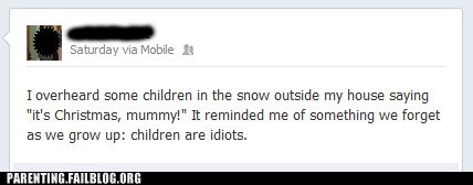 snow,facebook,dumb kids