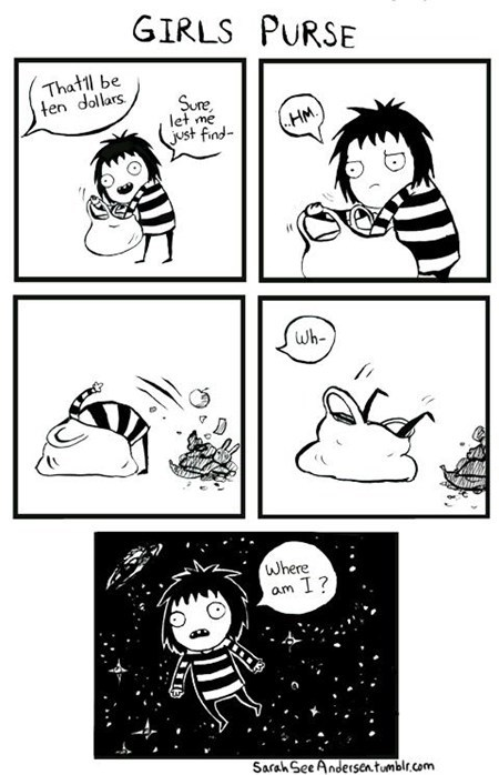 purse,girls,comic,space