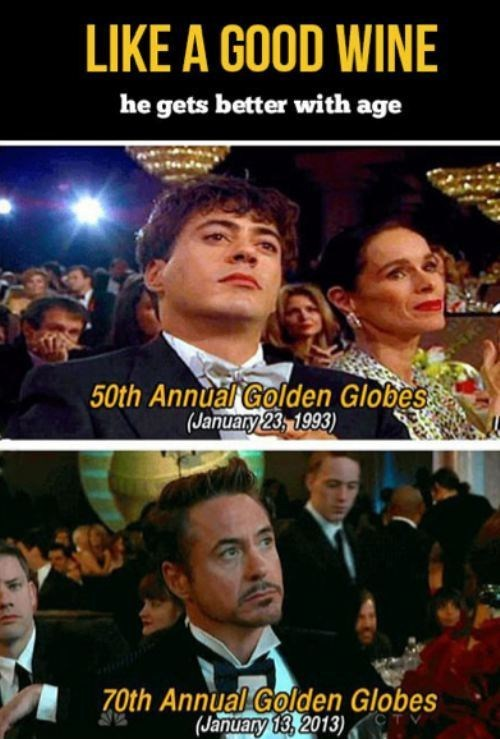golden globes robert downey jr comparison Before And After younger older - 6991512064