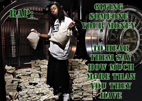 rap lil wayne money monday thru friday