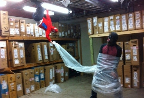 costume,Spider-Man,plastic wrap