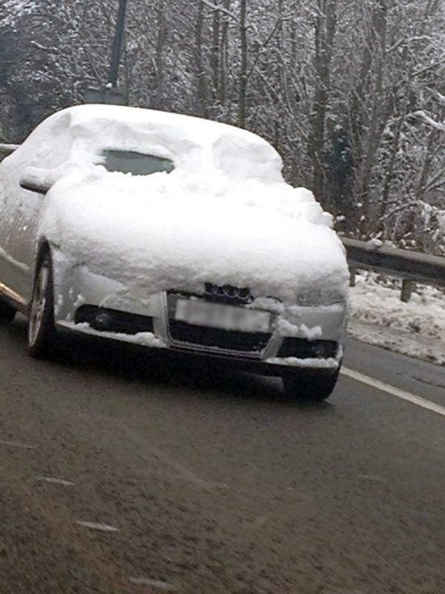 snow cars driving visibility winter dangerous