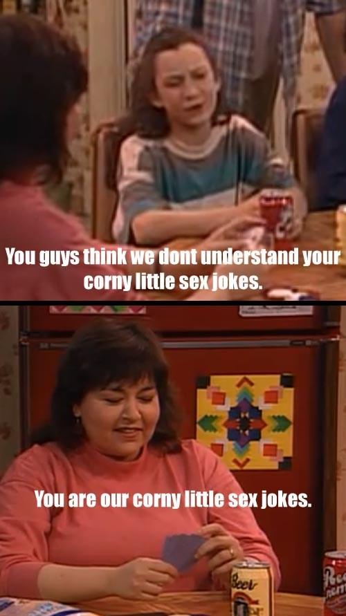 kids,sex jokes,roseanne